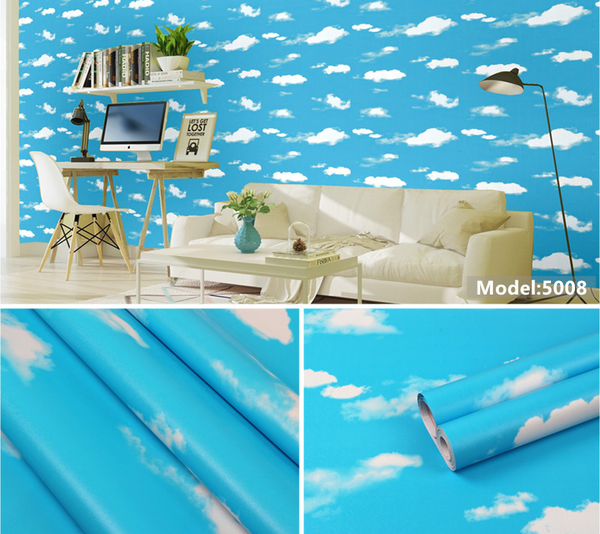 FUNLIFE PVC Self adhensive Wall Paper kids room