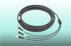 M12 to BNC Triaxial overmolded cable