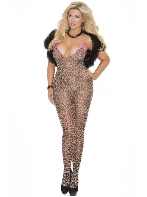 Leopard Crotchless Bodystocking
