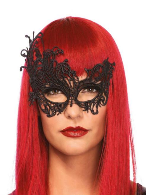 Fantasy Venetian Lace Applique Eye Mask Costume