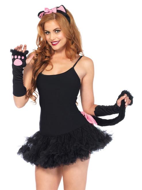 Pretty Black Kitty Cat DIY Costume Roleplay Accessory Kit