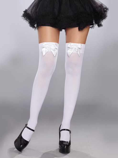 Attachable Bow Stockings