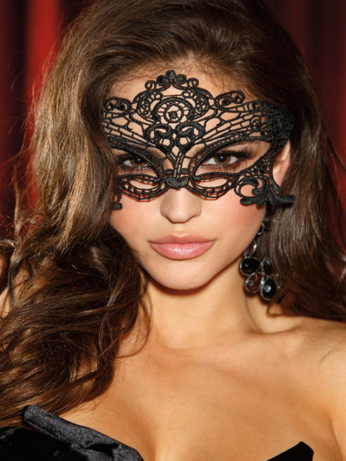 Fantasy Lace Embroidered Masquerade Venice Eye Mask