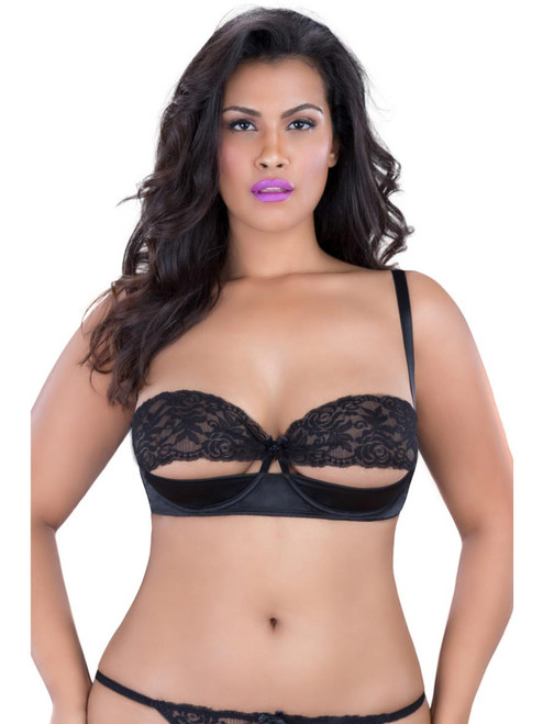 Plus Size Sexy Lace Shelf Bra Lingerie