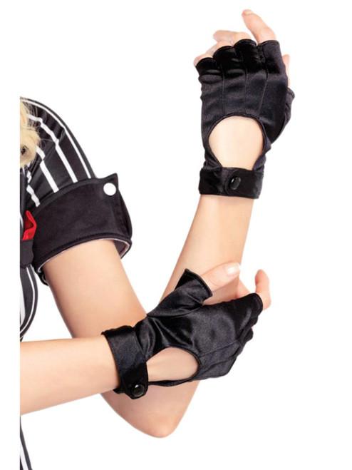 Fingerless Wrist Length Motorcycle Gloves