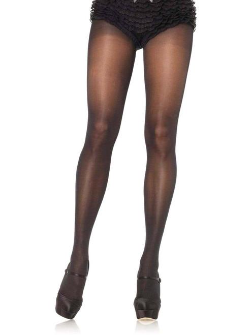 Plus Size Sheer Black Pantyhose Cotton Crotch Tights Hosiery
