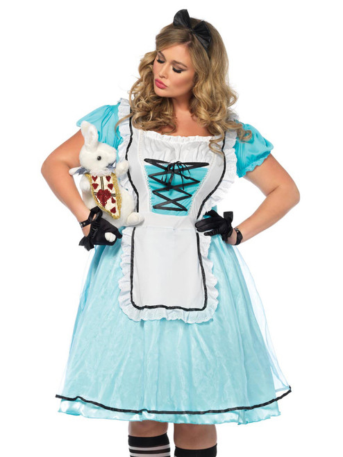 Womens Plus Size Storybook Tea Time Alice In Wonderland Roleplay Costume