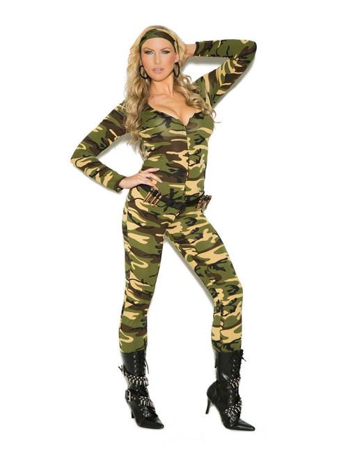 Plus Size Combat Warrior Military Army Girl Halloween Roleplay Costume