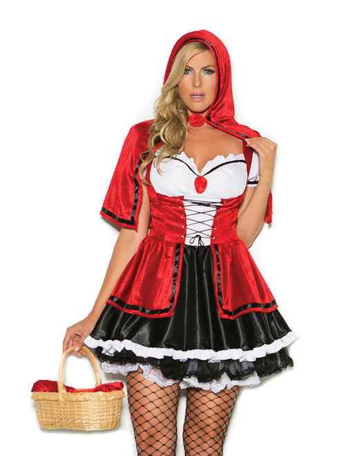Womens Plus Size Storybook Red Riding Hood Halloween Roleplay Costume