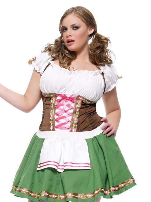Womens Plus Size Oktoberfest Bavarian Gretchen Tavern Wench Roleplay Costume