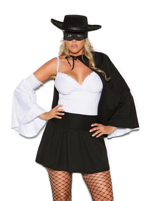 Elegant Moments Womens Plus Size Daring Bandit Zorro Halloween Roleplay Costume