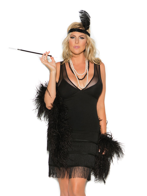 Elegant Moments Womens Plus Size Classic 1920's Gatsby Flapper Halloween Roleplay Costume