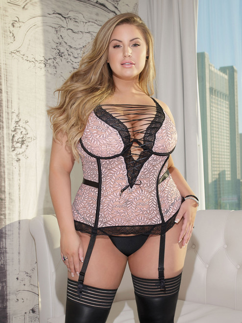 Two Tone Lace Bustier