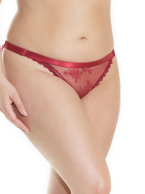 Satin Lace Ruched Panty