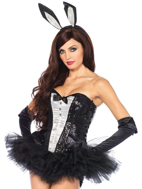 Womens DIY Glitter Sexy Bunny Halloween Costume Accessory Kit