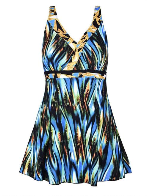 Vintage Swirl Print Swimdress