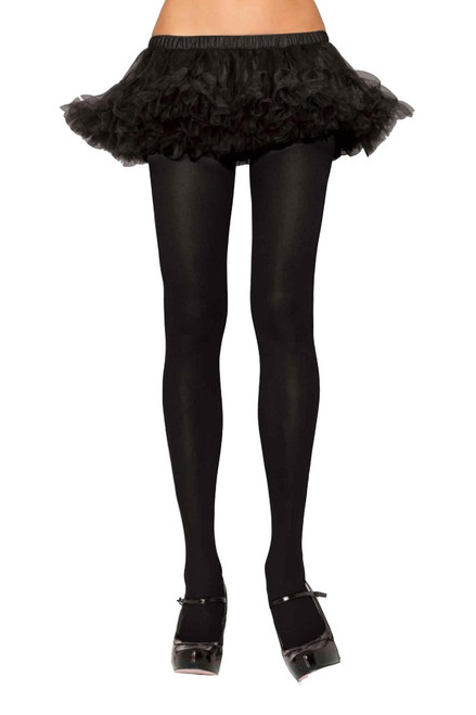 Plus Size Black Nylon Lycra Stretchy Spandex Tights Hosiery Leggings