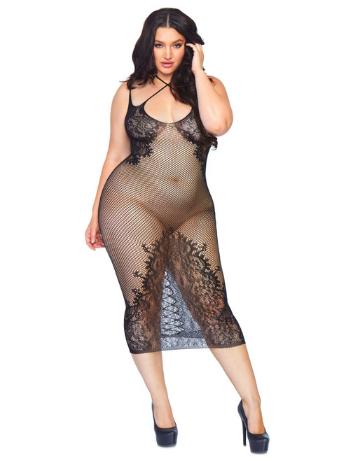 Dual Strap Seamless Net Dress