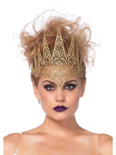 Die Cut Royal Gold Crown Costume Headband Accessories