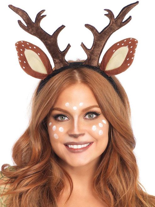 Fawn Deer Ear Antler Headband Costume Roleplay Accessories