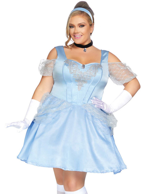 Plus Size Cinderella Glass Slipper Halloween Storybook Roleplay Costume