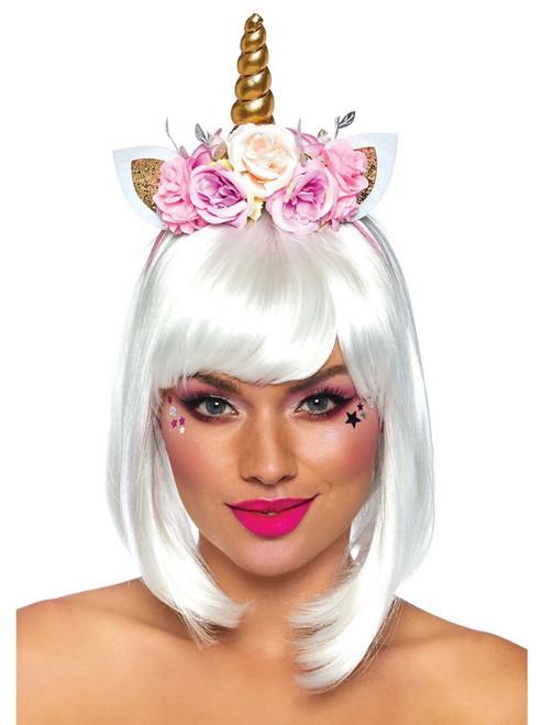 Unicorn Headband Fairy Flowers Floral Costume Accessories