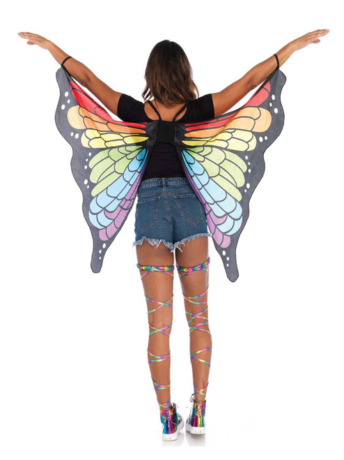 Rainbow Butterfly Arm Festival Dance Wings Costume Accessories