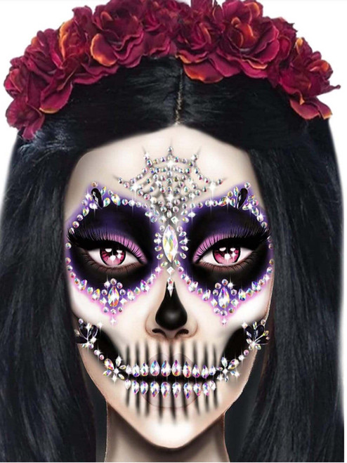 Calavera Face Jewels Set