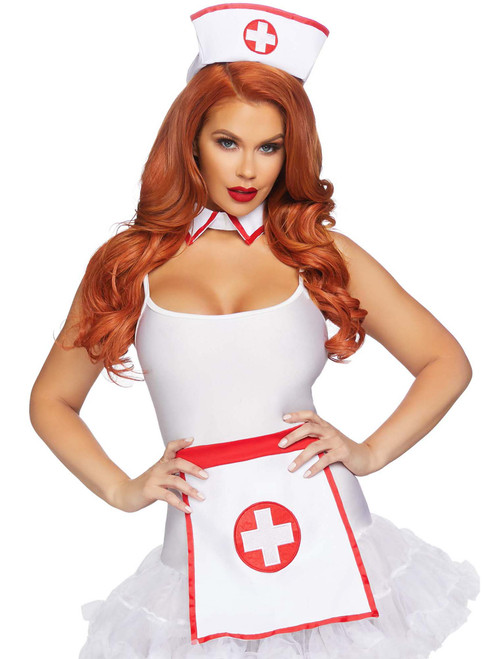 Retro Nurse Costume Kit Complete Roleplay Accessory Set