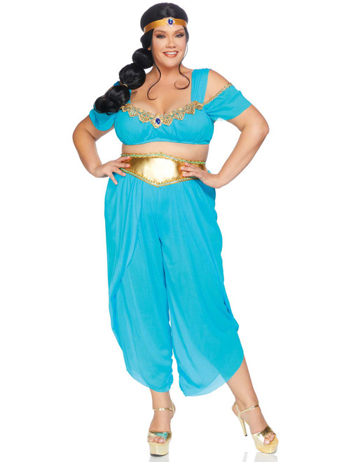 Plus Size Desert Princess Bra Top and Harem Pants Roleplay Costume