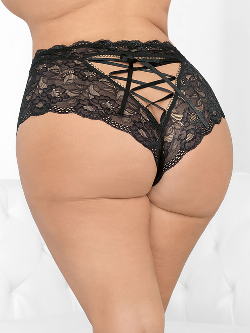 Lace Up High Waist Panty