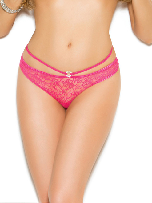 Womens Lace Strappy Waist Open Back Panty Underwear