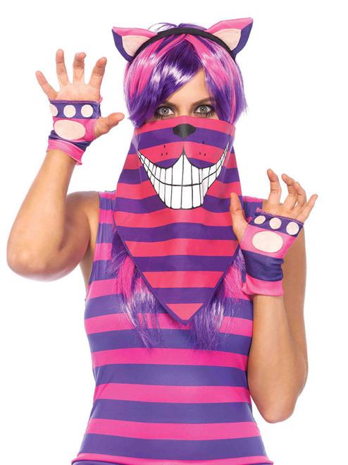 Cheshire cat bandana mask
