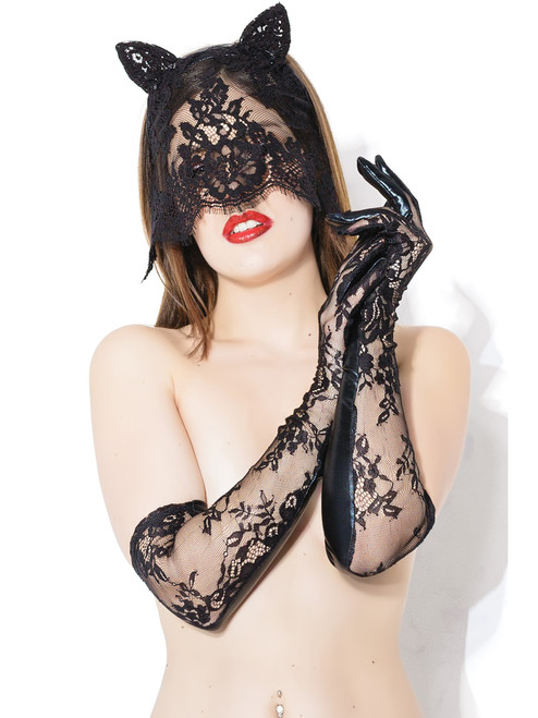 Sex Kitten Mask & Glove Set