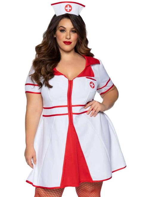 Plus Size Leg Avenue Womens Hospital Honey Nurse Costume Front View
