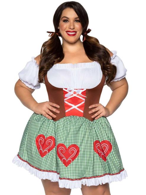 Plus Size Leg Avenue Womens Bavarian Cutie Oktoberfest Costume Front View