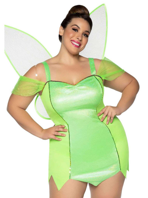 Plus Size Leg Avenue Womens Plus Size Pretty Pixie With Wings Costume Front View