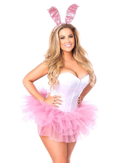 Plus Size Daisy Corsets Womens Innocent Bunny Corset Costume Front View