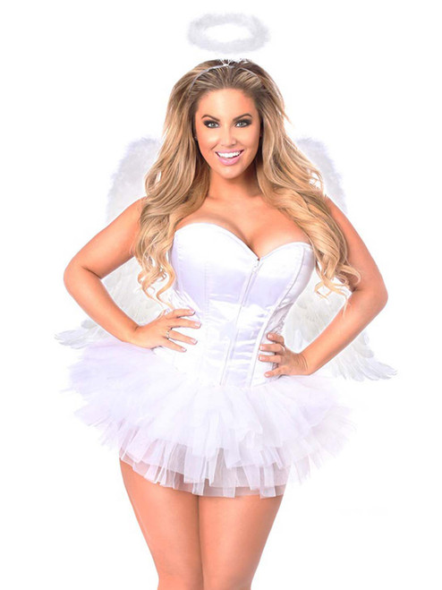Plus Size Daisy Corsets Womens Flirty Angel High Quality Corset Costume Front View