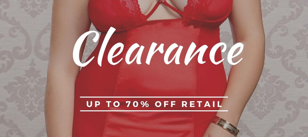 clearance plus size lingerie