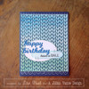 Knit Background Builder Cling Stamp