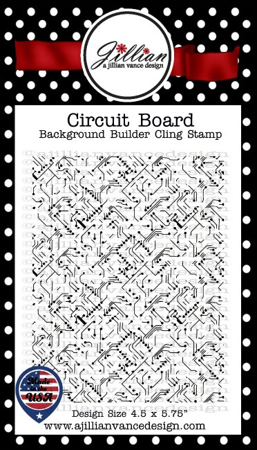 Circuit Board Background Builder Cling Stamp