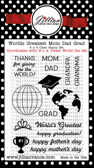 World's Greatest Mom Dad Grad Stamp Set