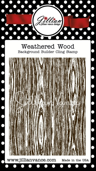 Weathered Wood Background Builder Cling Stamp