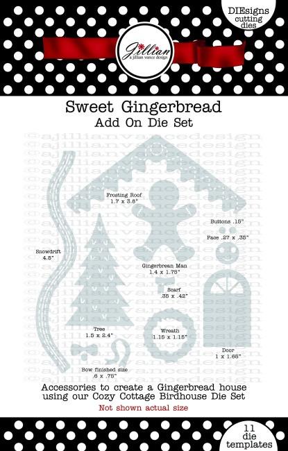 Sweet Gingerbread Add On Die Set