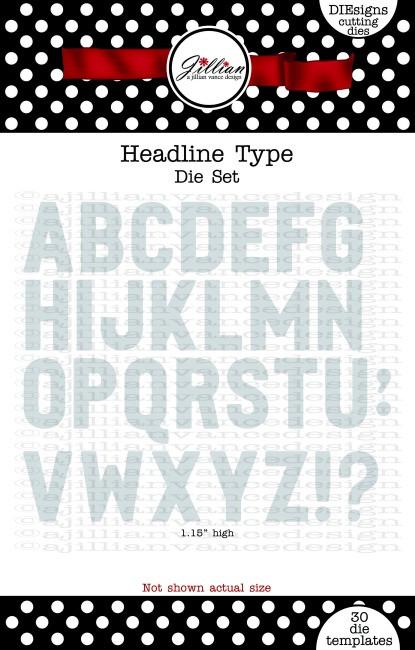 Headline Type Alphabet Die Set