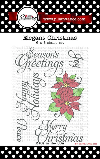 Elegant Christmas 6 x8 Stamp Set
