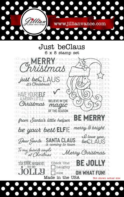 Just beCLAUS 6 x 8 Stamp Set