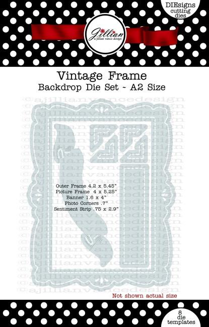 Vintage Frame Backdrop Die Set