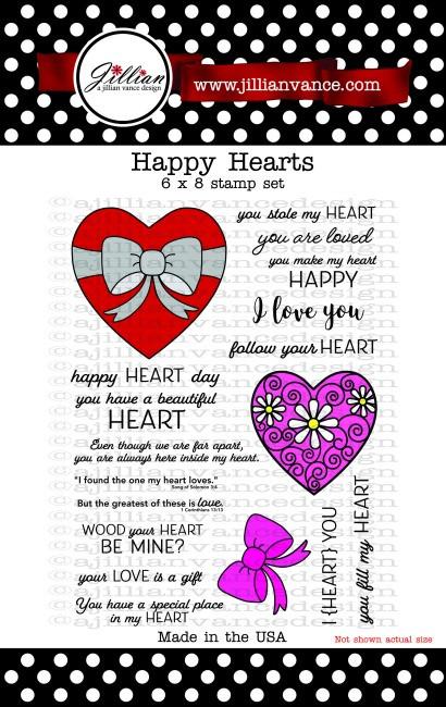 Happy Hearts 6 x 8 Stamp Set